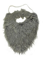 Grey Old Man Fake Fur Beard & Mustache Costume Accessory