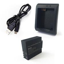 Batteria 900 mAh + caricabatteria per ProCam SJCAM QMOX SJ4000 SJ5000 anche wifi