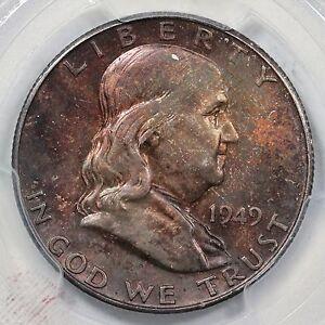 1949-S PCGS MS 64 CAC Franklin Silver Half Dollar .50c