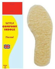 1 PAIR MEN LADY UNISEX ULTRA COMFORT WOOL INSOLE THERMAL FOOT FEET SIZE 3/4
