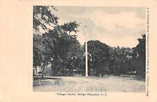 1908? Flagpole Village Centre Bridge Hampton Li Ny post card