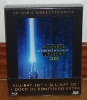 STAR WARS EL DESPERTAR DE LA FUERZA THE FORCE AWAKENS 3D+BLU-RAY+EXTRAS NUEVO R2