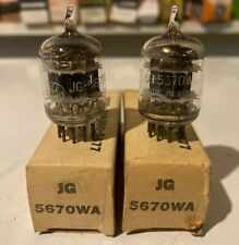 GE JAN 5670 5670WA 1956 Date New In Box - Matched Pair, Tested