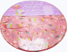 Girls Pink Toy Storage Bin Laundry Hamper Bees Birds Flowers Collapsible New