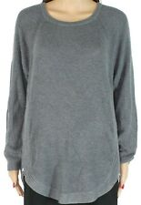 INC Womens Sweater Ash Gray Size 2X Plus Ribbed Waffle-Knit Side-Zip $99 123