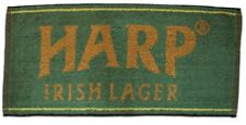 Harp Lager Cotton Bar Towel  525mm x 250mm  (pp)