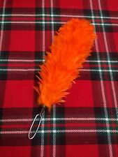 "TC Feather Bonnet Plume Hackle 11"" Orange Color/Glengarry Balmoral Plume Hackle"