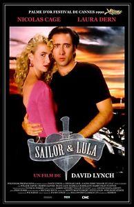 """Wild At Heart movie poster  - 11"""" x 17""""  - Nicolas Cage, Laura Dern"""