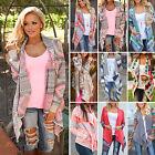 Damen Wasserfall Cardigan Strickjacke Asymmetrisch Mantel Pullover Capes Jacke