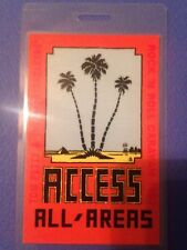 Tom Petty Backstage Pass Laminate Rock And Roll Caravan 1987