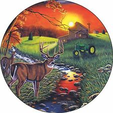 Deer #8 Spare Tire Cover buck & doe at farm Jeep RV Camper etc(all sizes avail)1