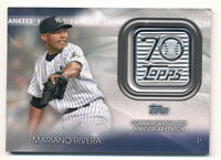 MARIANO RIVERA 2021 TOPPS 70TH ANNIVERSARY COMMEMORATIVE PATCH RELIC YANKEES