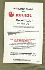 Sturm Ruger Factory Owners Manual - Ruger Model 77/22 Bolt Action Rifle 1984
