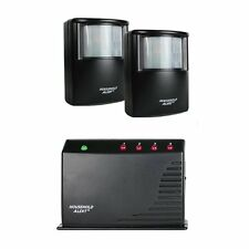 Motion Sensor Security System Kit 2 Long Range Alert Alarm Wireless Outdoor Home