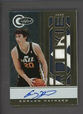 2010-11 Totally Certified Gold Gordon Hayward RPA RC Multi Patch AUTO 19/25