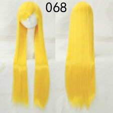40''/100CM Long Straight Women's Cosplay Wig 84 Colors Synthetic Full Wigs Gift