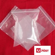 500x Zip Lock Plastic Bags 8CMx 12CM Resealable Zipper Clear Reclosable OZseller