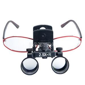 2.5X-R Clip Type Dental Surgical Medical Binocular Loupes Optical Magnifier