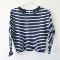 Girls Witchery Size 10 100% Cotton Striped Top 8Fourteen Stretch Long Sleeve