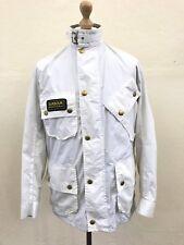Barbour International Womens Rainbow International Jacket Coat Size UK 10 White