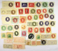 Early 1900's & Up Embossed Envelope Prepaid Postage Stamp Collection – 51 Total