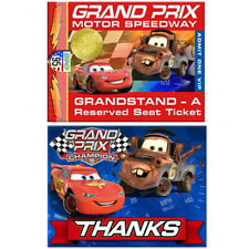 CARS Grand Prix Dream Party INVITES and THANK YOUS ~ Birthday Supplies Cards
