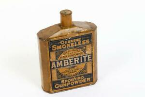 "Vintage c1910 ~ ""Curtiss & Harvey"" ""Amberite"" Sporting Gunpowder Tin      #2251"