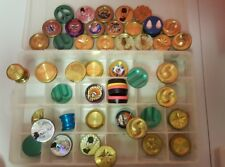 POG game Lot RETRO Metal Brass Slammers Acrylic Pounders 20pc Poison Skull Blade