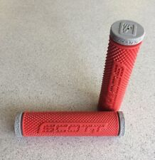 "Scott Double D ATV Handle bar Grips for Thumb Throttle 7/8"" Grey Red SXII"
