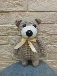 Handmade soft toy knitted teddy bear toy 7.87 inches / 20 cm, new, free shipping