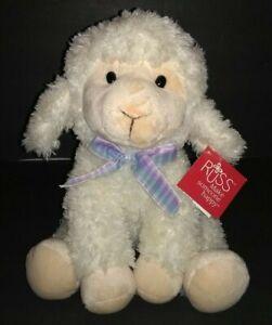 "Russ Berrie Fleecia Lamb Sheep Plush Soft Toy 11"" Stuffed Animal"