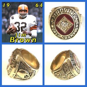 Cleveland Browns Jim Brown 1964 Championship Ring Size 11