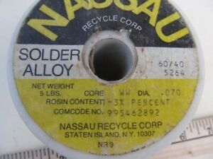 NASSAU metals recycle corp. solder alloy  60/40  5264 ,  4.75 lbs.