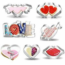 Biscuit Moulds for Valentine's Day, 8PCS Stainless Steel Cookie Cutters Biscuit