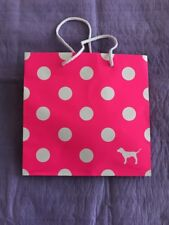 """Pink Victoria's Secret Polka Dot Paper Gift Bag Small  8x8x4"""" & WhiteTissue"""