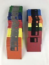"""75 Imation Memorex 1.44MB 3.5"""" Floppy Formatted Diskettes Rainbow Color Discs"""