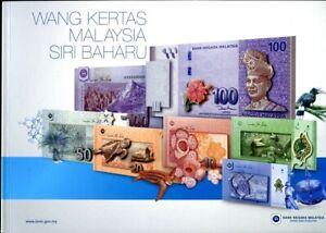 MALAYSIA SET 6 PCS 1 5 10 20 50 100 RINGGIT COMM 2012 UNC WITH FOLDER