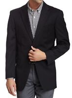 Tommy Hilfiger Mens Suit Jacket Black Size 38 L Long Two-Button Blazer $280 607