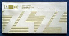 Owner'S MANUAL * Manuale di istruzioni 1974 Pontiac Grand Ville Catalina (USA)