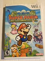 Super Paper Mario (Nintendo Wii, 2007) CIB, Free Shipping