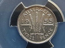 Australia.  1955 Threepence.. Proof - PCGS PR64