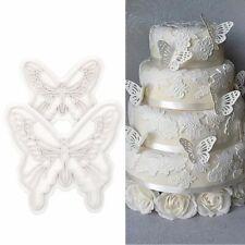 Nuevo 2 un. Forma de Mariposa Decoración Pastel Fondant Sugarcraft Cortadores De Galleta Molde