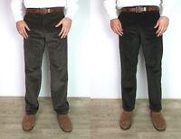 Men's Ex M&S Corduroy Trousers Ex Branded Regular Fit Thick Cords Super Soft