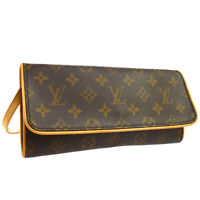 LOUIS VUITTON POCHETTE TWIN GM CROSS BODY BAG MONOGRAM M51852 CA0959 01576