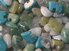 8mm x 12mm Mixed Stone Zuni Bear Beads (20)