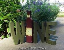"""Hinged """"WINE"""" BLOCK LETTERS Wine Connoisseur's Delight! WOOD SIGN"""