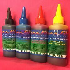 4X100ML ECO-FILL INK REFILL EPSON STYLUS S20 S21 SX100 SX105 SX110 SX115 NON OEM