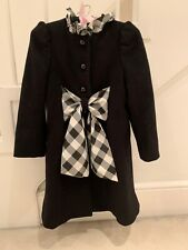 Nicholas & Bears Designer Bkack Coat Girls 4 Yrs