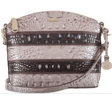 New Brahmin Chardonnay Seine Asher Duxbury croc embossed leather bag crossbody