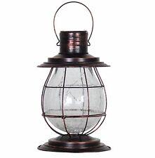 Solar Lantern Garden Light Path Lighting Hanging Yard Lamp Rustic Home Decor New